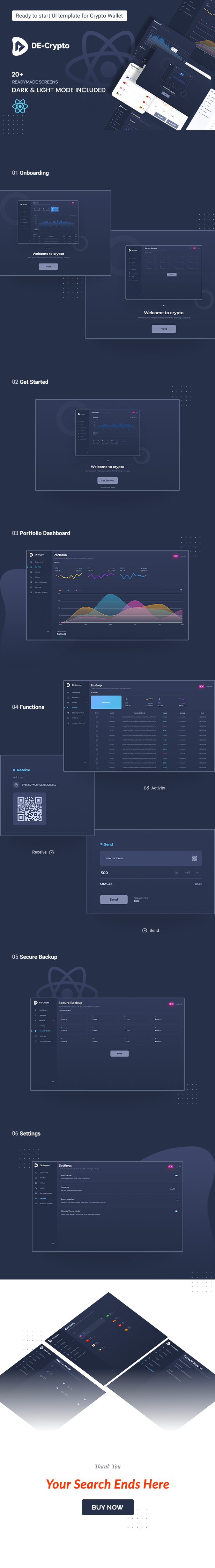 decentralized cryptocurrency react js web app template